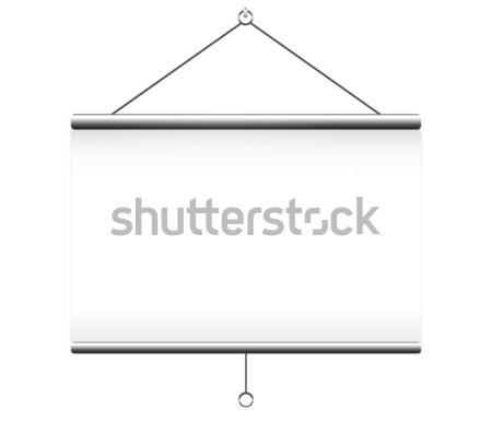 Projektor képernyő fehér üzlet iroda film Stock fotó © robuart