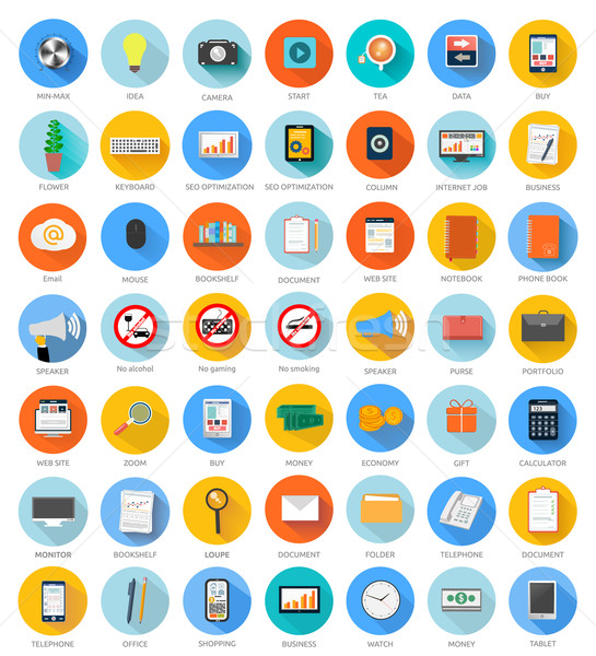 Set for web and mobile applications Stock photo © robuart