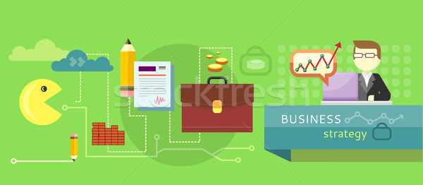Business stategy concept Stock photo © robuart