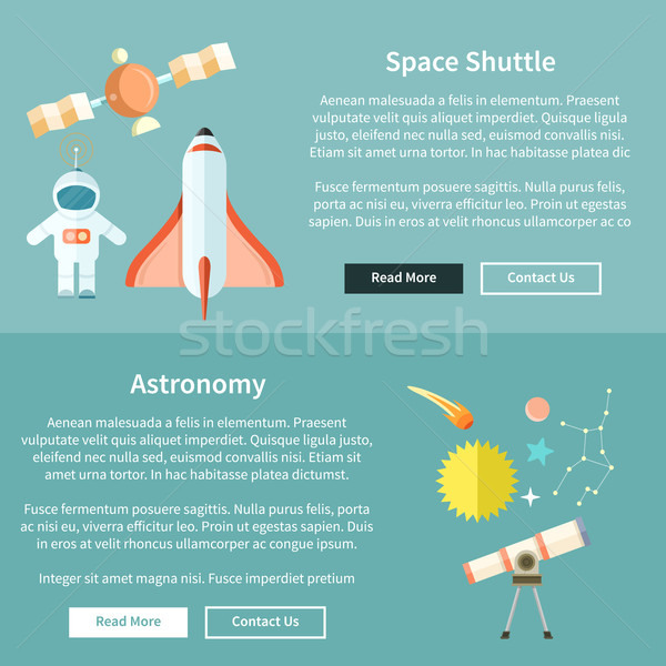 Space Shuttle and Astronomy Web Page Stock photo © robuart