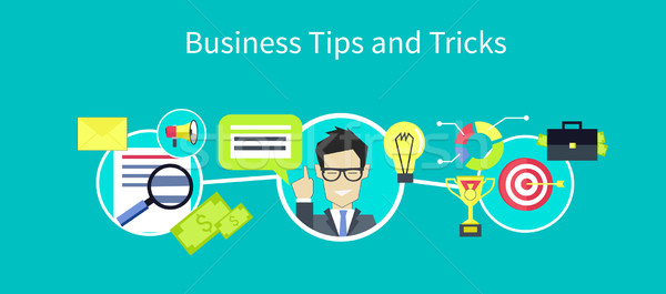 üzlet tippek terv ikon hasznos tanács Stock fotó © robuart