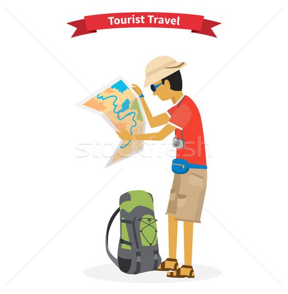 Dünya macera seyahat turist yolculuk Stok fotoğraf © robuart