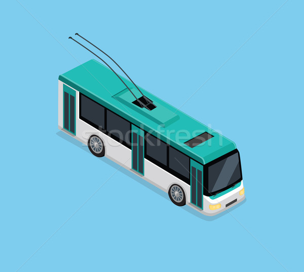 Isometric 3D Electric Trolleybus Stock photo © robuart