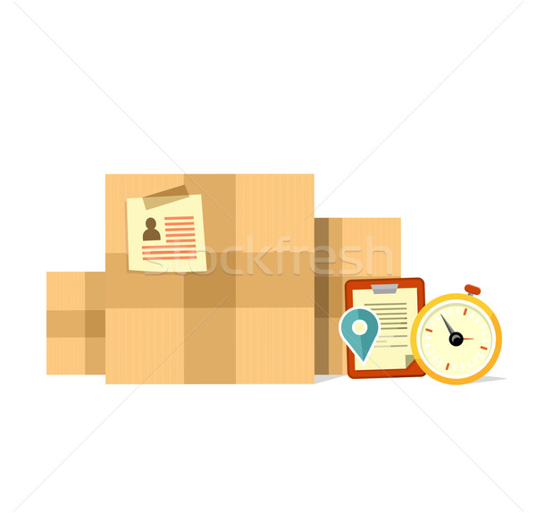 Levering vak termijn ontwerp dienst pakketdienst Stockfoto © robuart