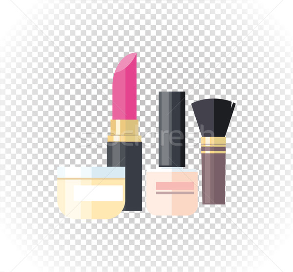Cosmetic Lipstick Nail Isolated Stock photo © robuart