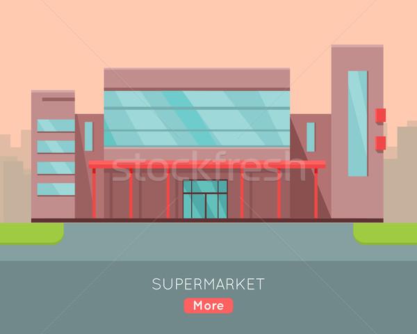 Stok fotoğraf: Web · şablon · dizayn · süpermarket · sayfa