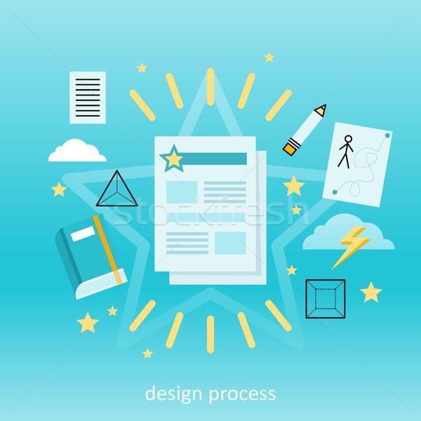 Design Process Concept Stock photo © robuart