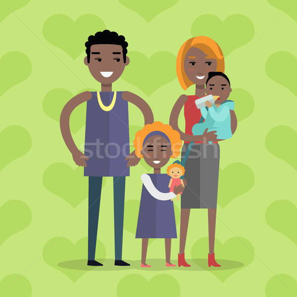 Family Vector Concept in Flat Design Stock photo © robuart