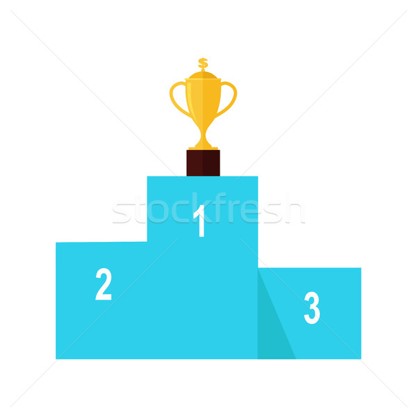 Stock photo: Winners Podium Isolated. Professional Growth.