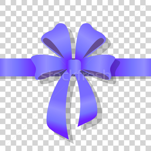 Blue Holiday Bow on Transparent Background Vector Stock photo © robuart