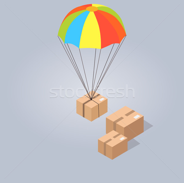 Fast and Convenient Delivery Isolated Illustration Stock photo © robuart