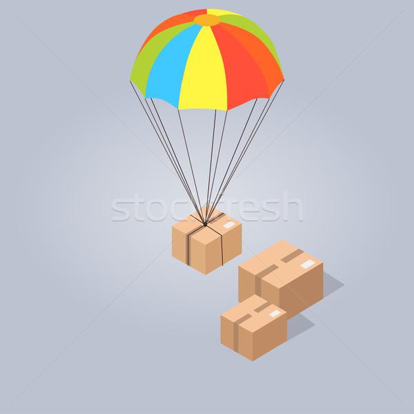 Gyors kényelmes házhozszállítás izolált illusztráció széf Stock fotó © robuart
