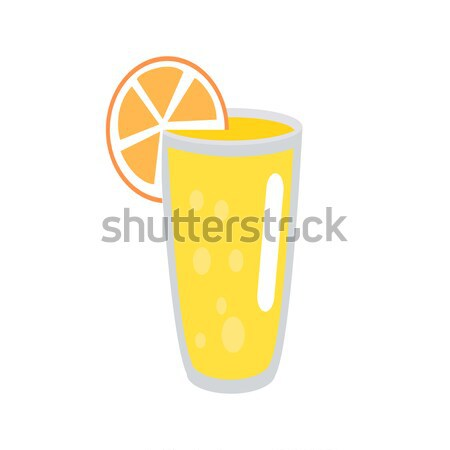 Limonade orange slice glas illustratie geïsoleerd witte Stockfoto © robuart