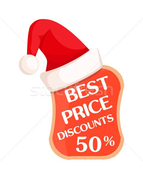 Mejor precio por ciento signo dentro sombrero Foto stock © robuart