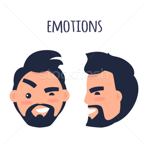 Emotions. Face from Different Angles Illustration Stock photo © robuart