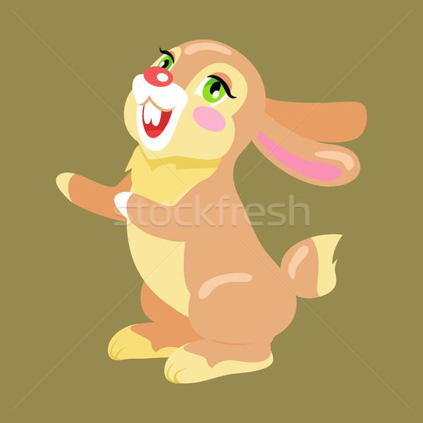Milk Chocolate Bunny Sweetness Holiday Mascot Stock photo © robuart