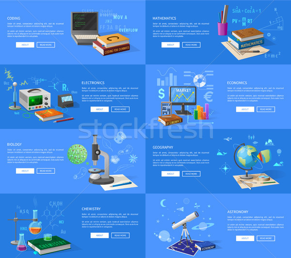 Educational Subjects Informative Internet Pages Stock photo © robuart
