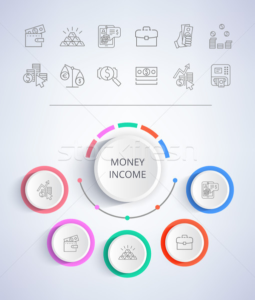 Money Income E-commerce Web Buttons Business Stock photo © robuart