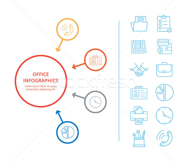 Office Infographics Business Income Icon Analysis Stock photo © robuart