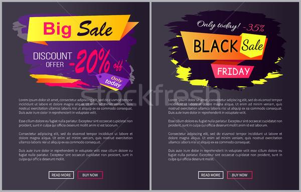 Ma el fekete vásár promo címke Stock fotó © robuart