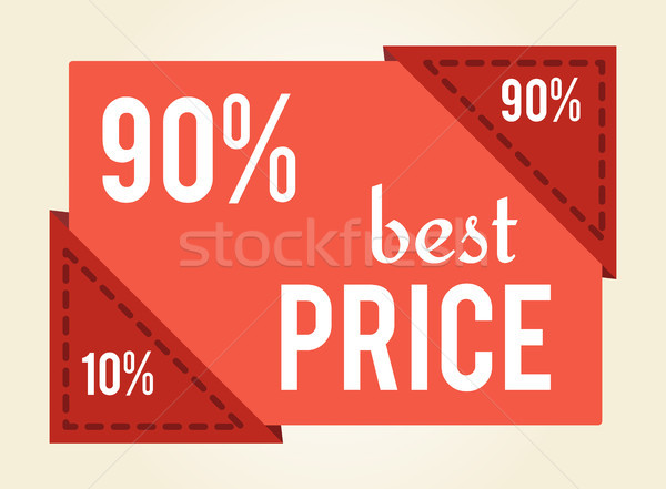 90 off Best Price Sale Tag Vector Illustration vector