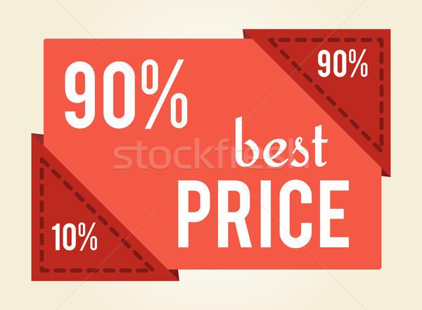 Af beste prijs verkoop tag korting waarde Stockfoto © robuart