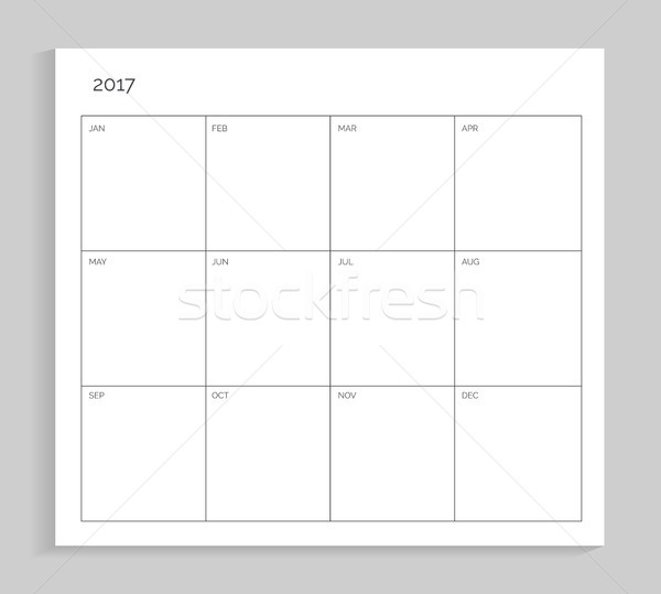 Empty Calendar Planning Sheet Vector Illustration Stock photo © robuart
