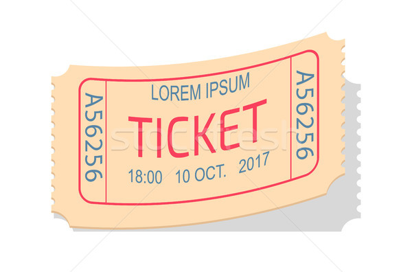 Ticket Entry Admission Vector Illustration Coupon Stock photo © robuart