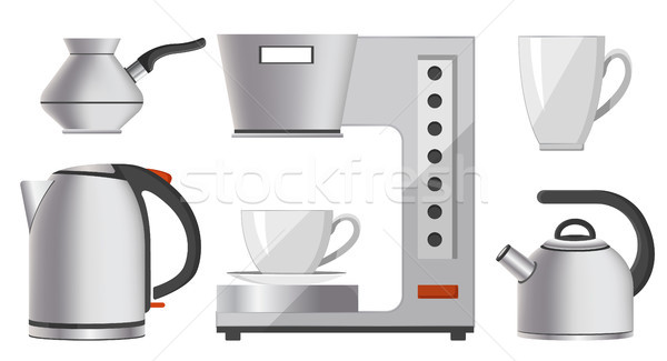 Set of Silver Kitchen Devices Vector Illustration Stock photo © robuart