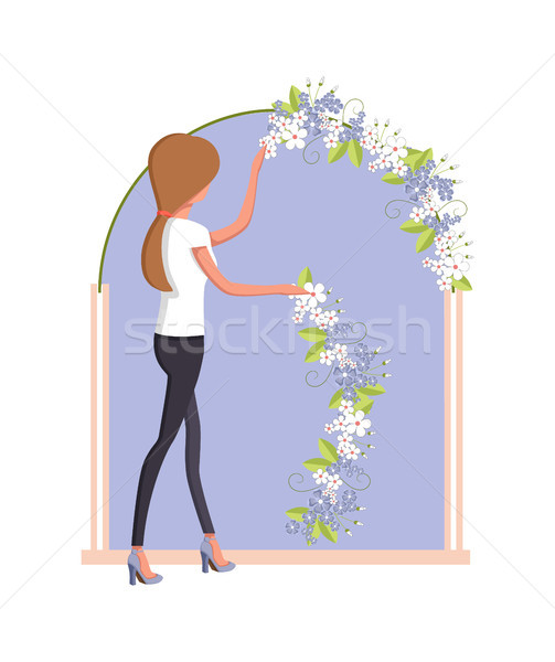 Organization of Wedding Woman Vector Illustration Stock photo © robuart