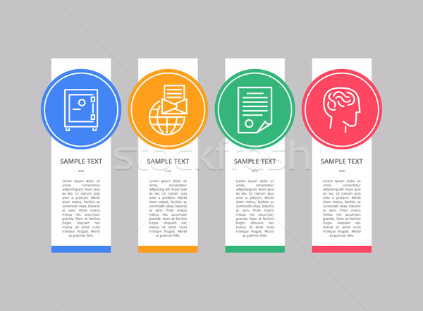 Infographic Object Text Sample Vector Illustration Stock photo © robuart