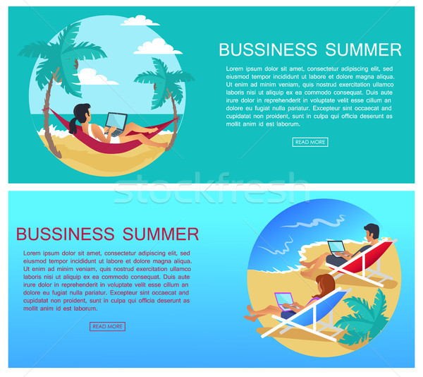 Business Summer Page and Text Vector Illustration Stock photo © robuart