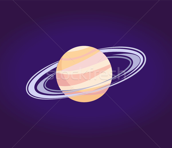 Saturn Made of Gases with Ring of Ice and Dust Stock photo © robuart