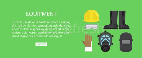 Equipment Advertising web Banner Vector Illustration. Stock photo © robuart
