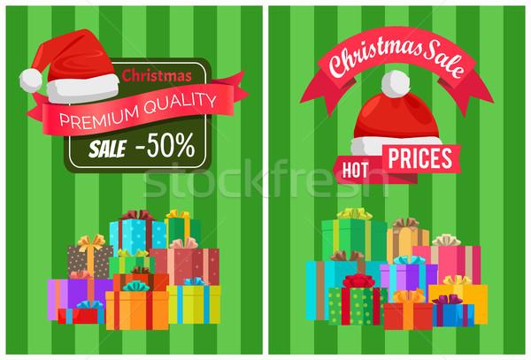 Stock fotó: Forró · árak · karácsony · vásár · prémium · minőség