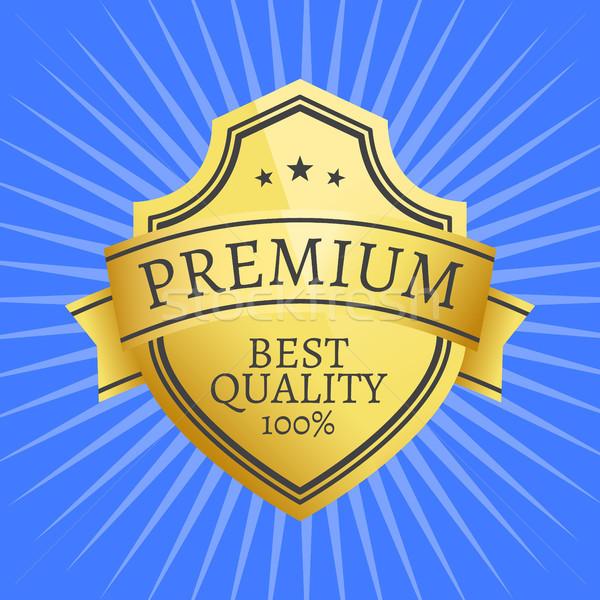 プレミアム 品質 ベスト ラベル 100 ストックフォト © robuart