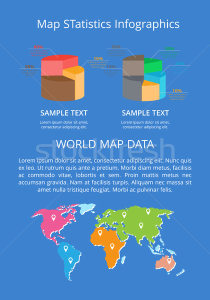 Map Statistics Infographics Word Data Color Banner Stock photo © robuart
