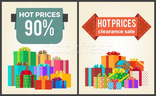 горячей цены окончательный продажи рекламный Этикетки Сток-фото © robuart