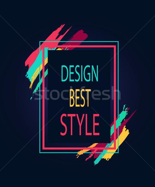 Terv legjobb stílus négyszögletes fényes keret Stock fotó © robuart
