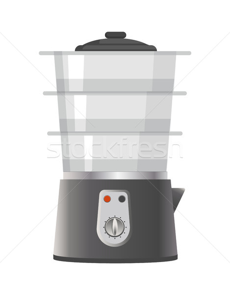 Shiny Double Boiler Icon Vector Illustration Stock photo © robuart