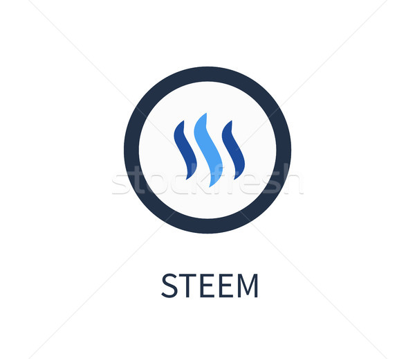 Steem Cryptocurrency Icon Vector Illustration Stock photo © robuart