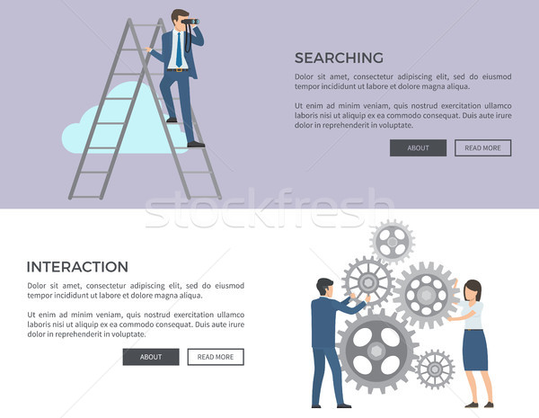 Searching and Interaction Web Vector Illustration Stock photo © robuart