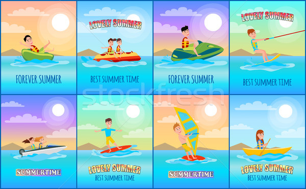 Forever Summer Collection Vector Illustration Stock photo © robuart
