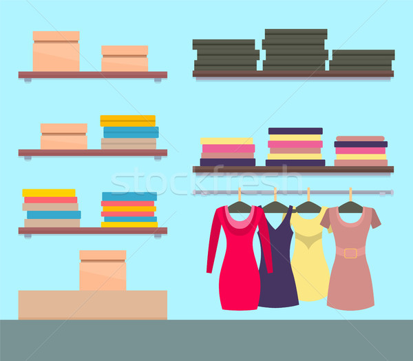 Female Boutique with Modern Stuff Collection Stock photo © robuart