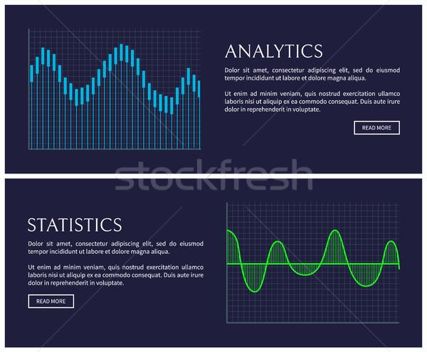 Analytics and Statistics Data Shown in Graphics Stock photo © robuart