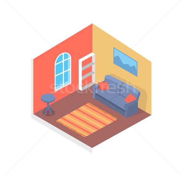 здании интерьер плакат внутри диван внутренний Сток-фото © robuart