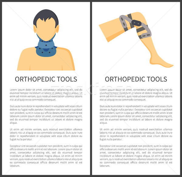 Stock photo: Orthopedic Tools Posters, Vector Illustration