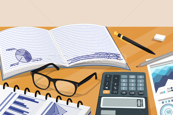 Business Notes and Statistical Documantation Card Stock photo © robuart