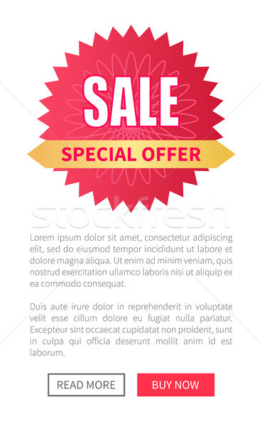 Venta etiqueta filigrana web anunciante Foto stock © robuart