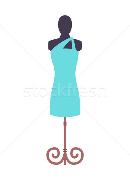 Elbise mavi manken şık cüppe dizayn Stok fotoğraf © robuart
